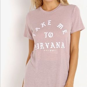 Spiritual Gangster Take Me To Nirvana Tee in Pink